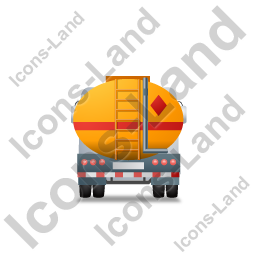 Fuel Tank Truck Back Yellow Icon