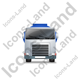 Fuel Tank Truck Front Blue Icon