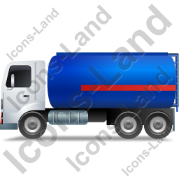 Fuel Tank Truck Left Blue Icon