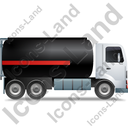 Fuel Tank Truck Right Black Icon