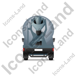 Mixer Truck Back Grey Icon, PNG/ICO, 256x256