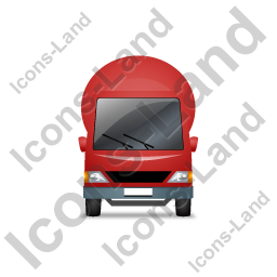 Mixer Truck Front Red Icon, PNG/ICO, 256x256