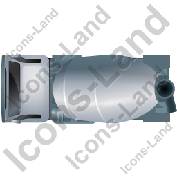 Mixer Truck Top Grey Icon, PNG/ICO, 256x256