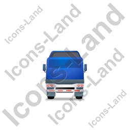 Tractor Flatbed Trailer Back Blue Icon, PNG/ICO, 256x256