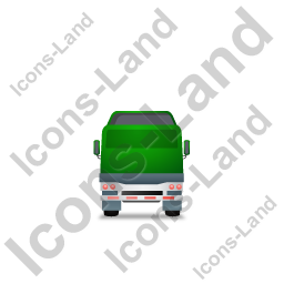 Tractor Flatbed Trailer Back Green Icon
