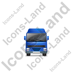 Tractor Flatbed Trailer Front Blue Icon