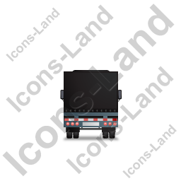 Tractor Trailer Back Black Icon, PNG/ICO, 256x256