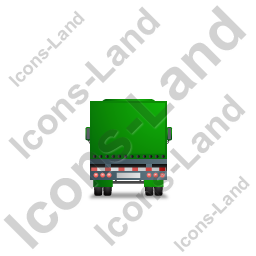 Tractor Trailer Back Green Icon