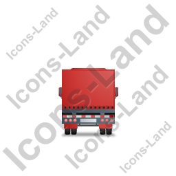 Tractor Trailer Back Red Icon, PNG/ICO, 256x256