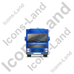 Tractor Trailer Front Blue Icon