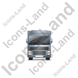 Tractor Trailer Front Grey Icon