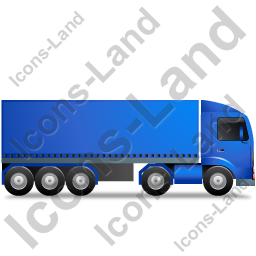 Tractor Trailer Right Blue Icon, PNG/ICO, 256x256