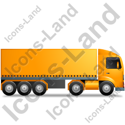 Tractor Trailer Right Yellow Icon, PNG/ICO, 256x256