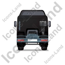 Tractor Unit Back Black Icon