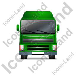 Tractor Unit Front Green Icon