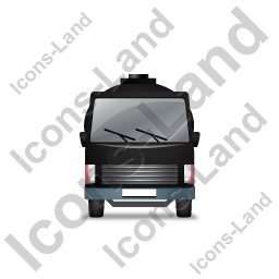 Water Tank Truck Front Black Icon, PNG/ICO, 256x256