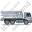 Concrete Pump Right Grey Icon