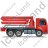 Concrete Pump Right Red Icon, PNG/ICO, 48x48