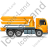 Concrete Pump Right Yellow Icon