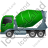Mixer Truck Left Green Icon, PNG/ICO, 48x48
