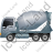 Mixer Truck Left Grey Icon, PNG/ICO, 48x48