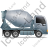 Mixer Truck Right Grey Icon, PNG/ICO, 48x48