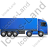 Tractor Trailer Right Blue Icon