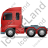 Tractor Unit Left Red Icon