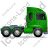 Tractor Unit Right Green Icon