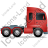 Tractor Unit Right Red Icon