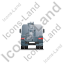 Concrete Pump Back Grey Icon, PNG/ICO, 64x64