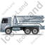 Concrete Pump Left Grey Icon, PNG/ICO, 64x64