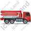 Concrete Pump Right Red Icon, PNG/ICO, 64x64