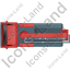 Concrete Pump Top Red Icon, PNG/ICO, 64x64