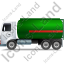 Fuel Tank Truck Left Green Icon