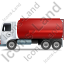 Fuel Tank Truck Left Red Icon