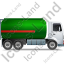 Fuel Tank Truck Right Green Icon