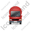 Mixer Truck Front Red Icon, PNG/ICO, 64x64