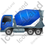 Mixer Truck Left Blue Icon