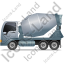 Mixer Truck Left Grey Icon, PNG/ICO, 64x64