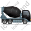 Mixer Truck Right Black Icon, PNG/ICO, 64x64