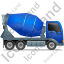 Mixer Truck Right Blue Icon