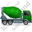 Mixer Truck Right Green Icon