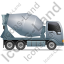 Mixer Truck Right Grey Icon, PNG/ICO, 64x64
