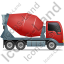 Mixer Truck Right Red Icon