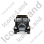 Sewer Cleaning Truck Front Black Icon, PNG/ICO, 64x64
