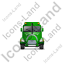 Sewer Cleaning Truck Front Green Icon