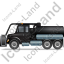 Sewer Cleaning Truck Left Black Icon