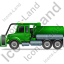 Sewer Cleaning Truck Left Green Icon
