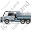 Sewer Cleaning Truck Left Grey Icon